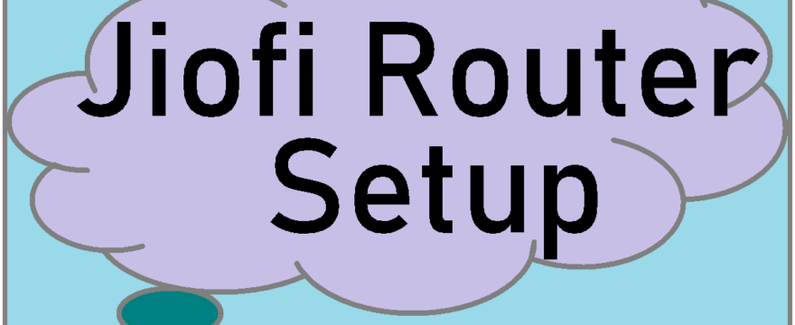 jiofi router configuration